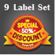 9 Label Set - GraphicRiver Item for Sale