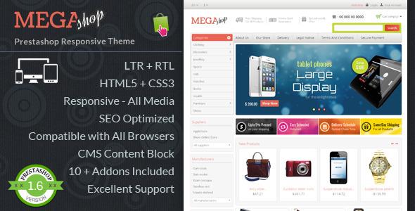 Mega Store  - Prestashop Responsive Template
