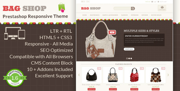 Bag Shop – Prestashop Responsive Theme