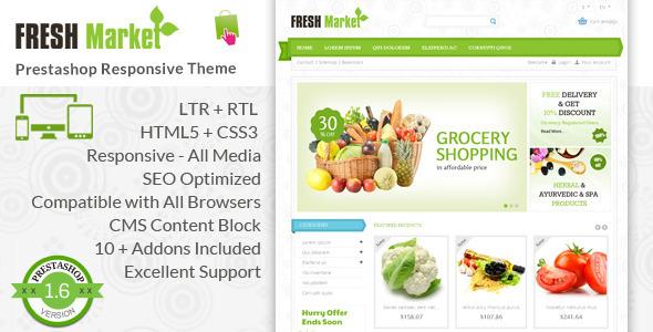 Fresh Market – Prestashop Responsive Theme