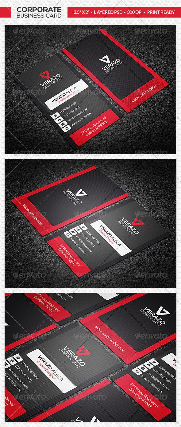 Creative & Modern Business Card 24 by verazo | GraphicRiver