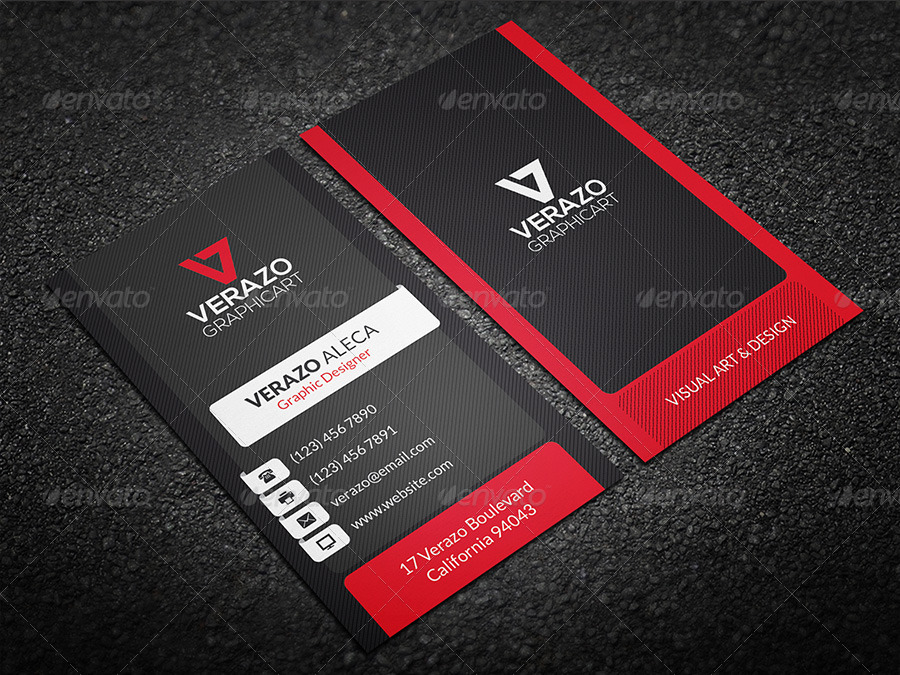 Creative & Modern Business Card 24 by verazo   GraphicRiver