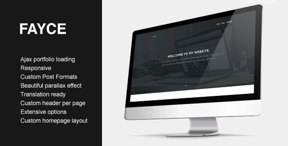 Fayce - Ajax powered showcase portfolio - Portfolio Creative