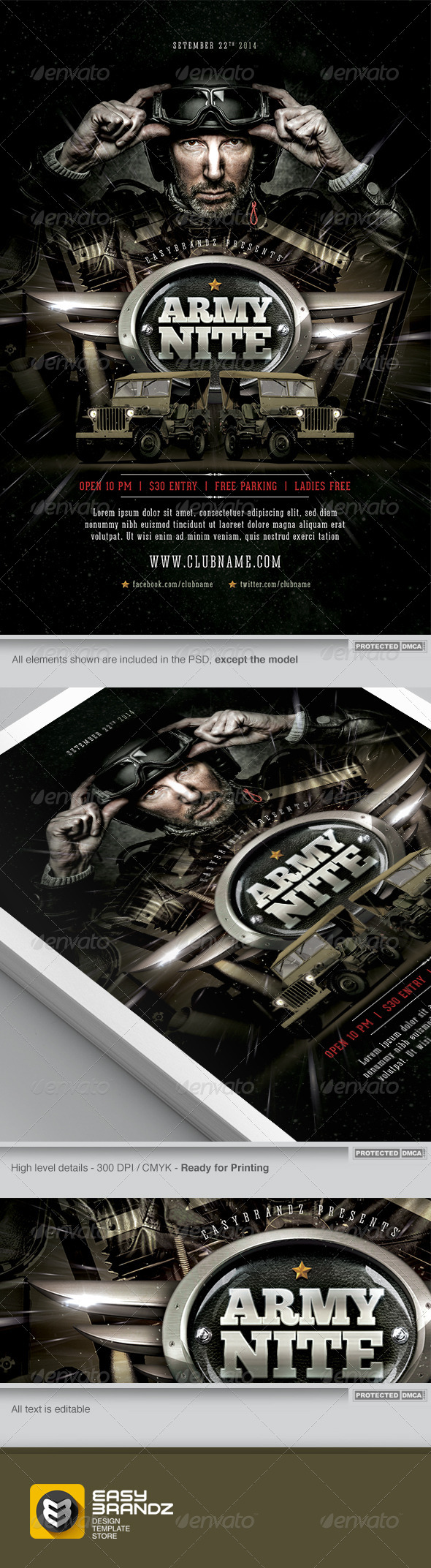 Army Nite Flyer Template - Events Flyers