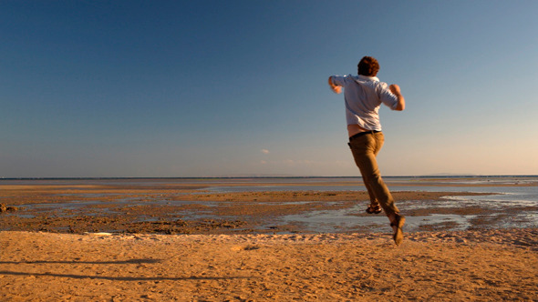 Happy Man Running Away by Grey_Coast_Media | VideoHive