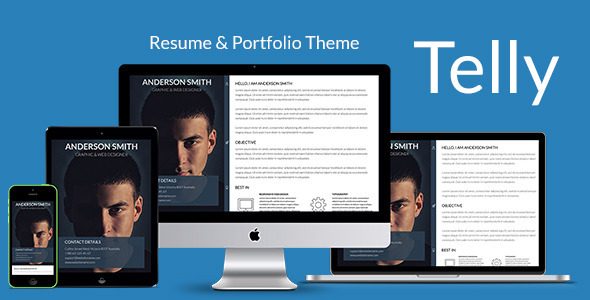 Telly - Responsive Resume & Portfolio Template - Resume / CV Specialty Pages