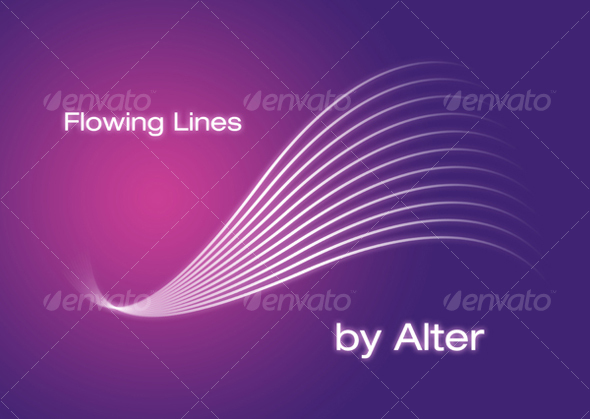 Flowing Lines - Tech / Futuristic Backgrounds