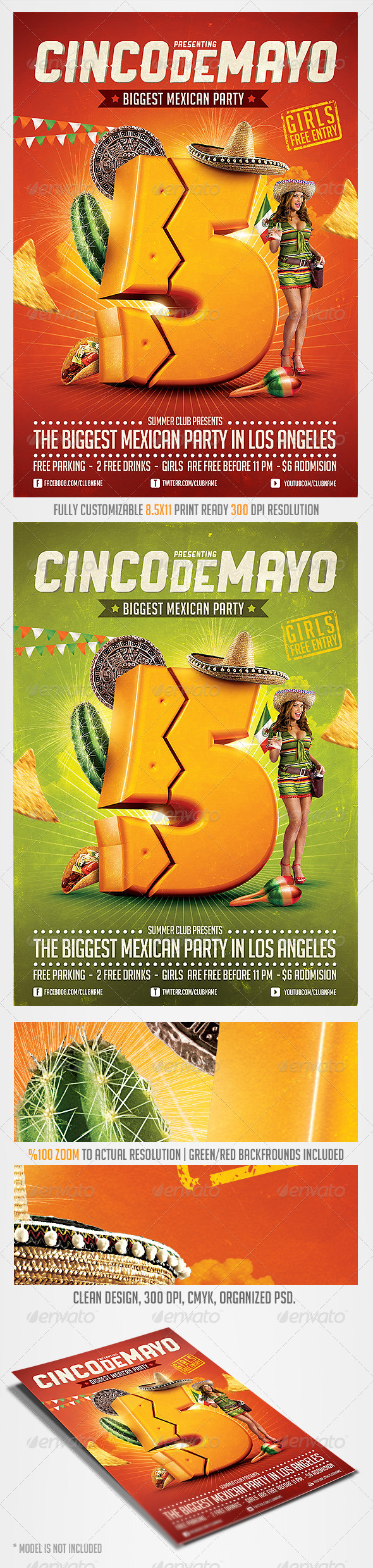 Cinco de Mayo Party Flyer 4 - Clubs & Parties Events