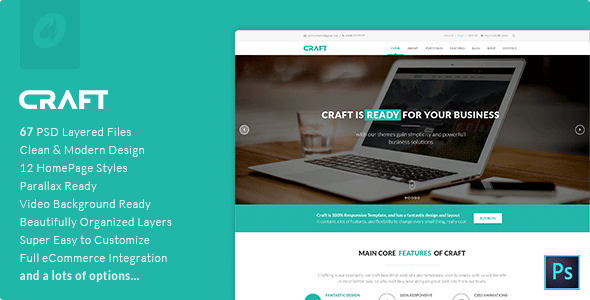 Craft | Multi-Purpose PSD Template - Business Corporate