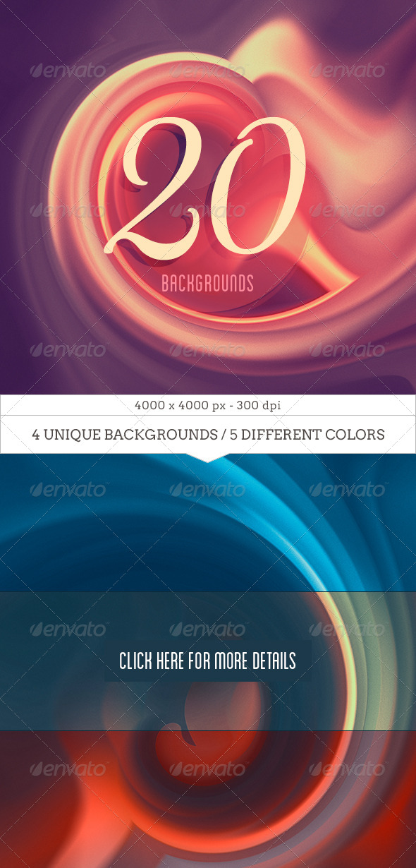 20 Dreamy Backgrounds V.01 - Miscellaneous Backgrounds
