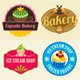 25 Bakery, Cupcake and Ice Cream Badges Bundle  - GraphicRiver Item for Sale