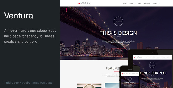 Ventura - Multi-Purpose Muse Template - Creative Muse Templates