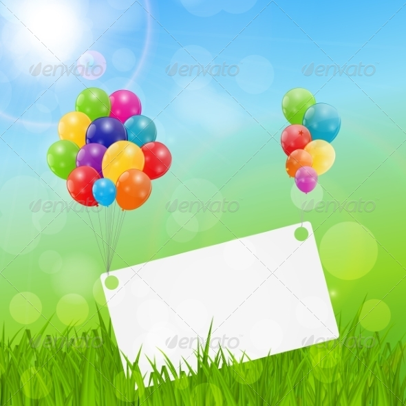 Color glossy balloons birthday card background by yganko color glossy balloons birthday card background birthdays seasonsholidays bookmarktalkfo Choice Image