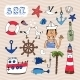 Hand Drawn Nautical Elements - GraphicRiver Item for Sale