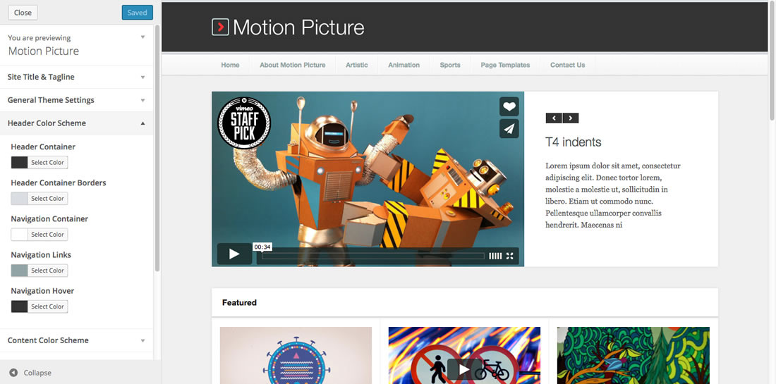 Motion Picture   Responsive WordPress Video Theme