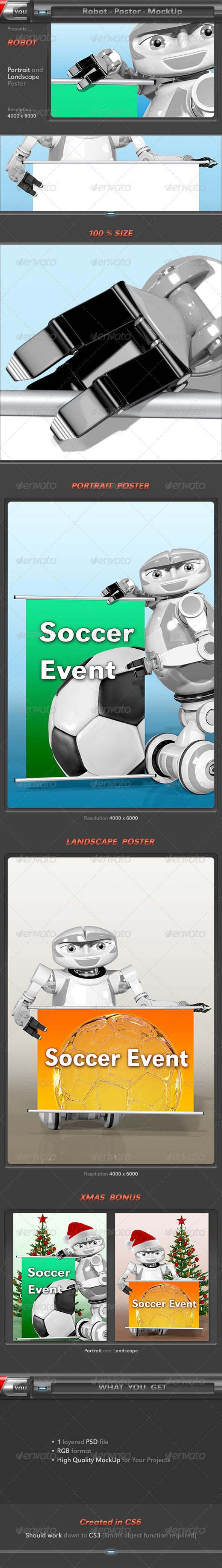 Robot Poster MockUp - Posters Print