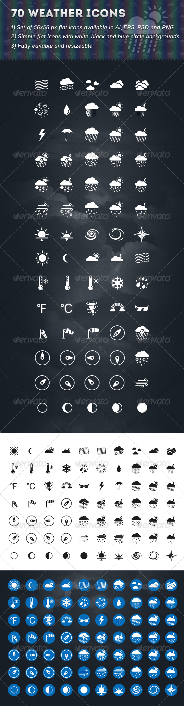 70 Weather Icons - Seasonal Icons