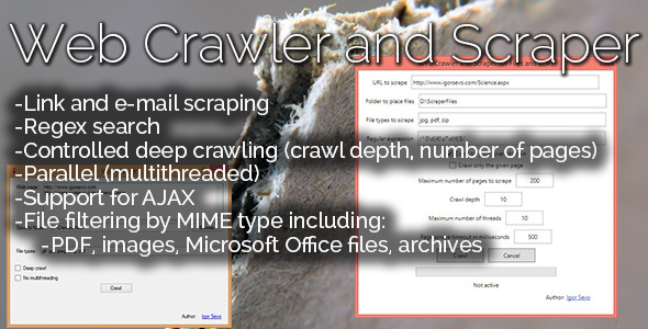 Web Crawler and Scraper for Files and Links - CodeCanyon Item for Sale