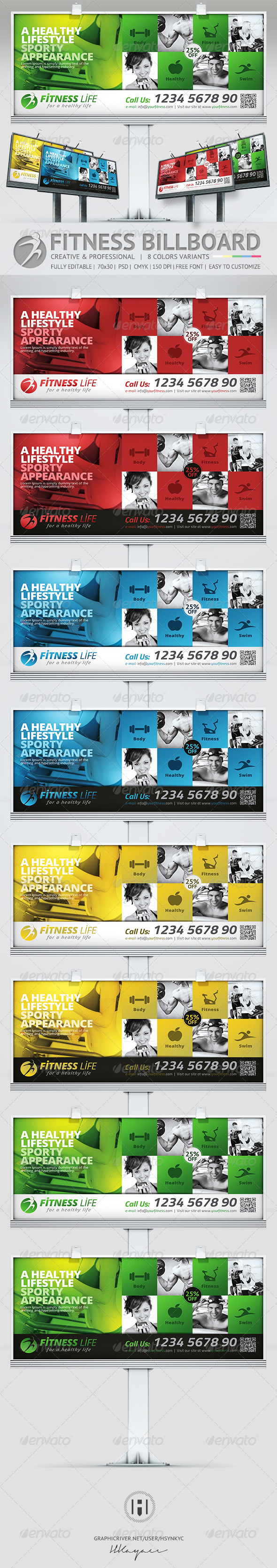 Fitness Billboard - Signage Print Templates