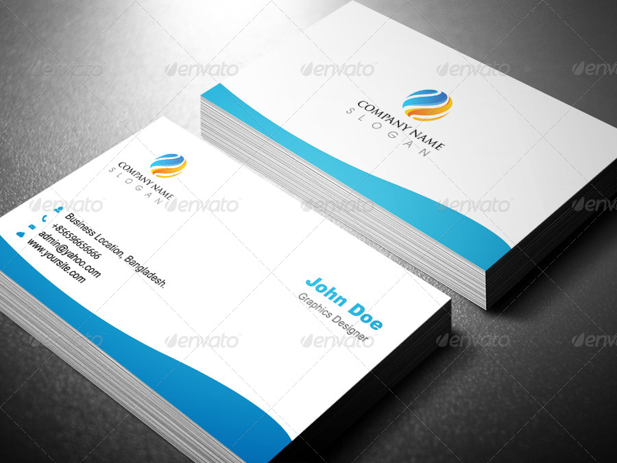 professional business card template design by