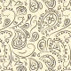 Transparent Background Seamless Paisley Pattern - GraphicRiver Item for Sale