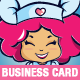 Chef / Cake Designer Mascot Business Card Template - GraphicRiver Item for Sale