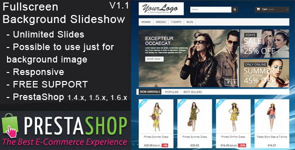 Prestashop Fullscreen Background Slideshow - CodeCanyon Item for Sale