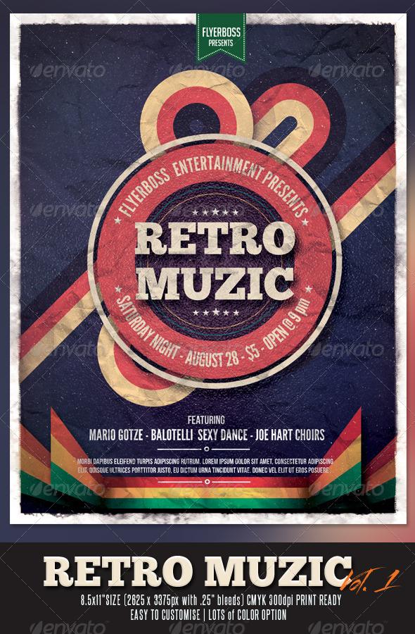Retro Muzic Flyer/Poster - Events Flyers