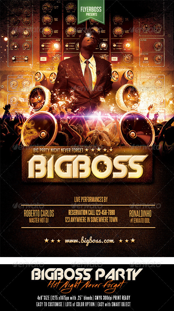 Bigboss Party Flyer - Events Flyers