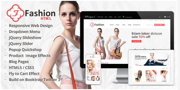 Responsive HTML Template – Fashion
