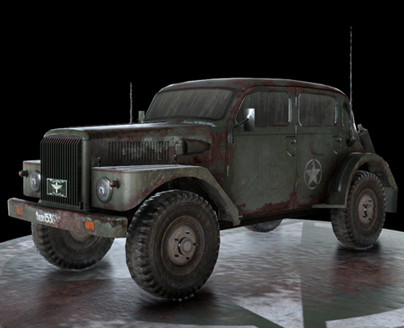 WW2 Military Vehicle Volvo - 3DOcean Item for Sale