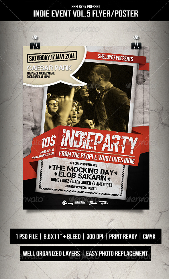 Indie Event Flyer / Poster Vol.5 - Events Flyers