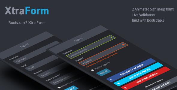 XtraForm - Bootstrap 3 Xtra Animated Form