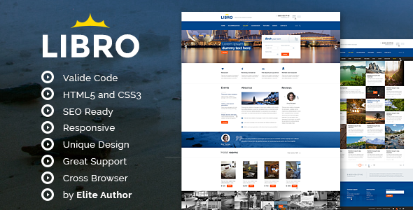 Libro Responsive HTML Template - Travel Retail