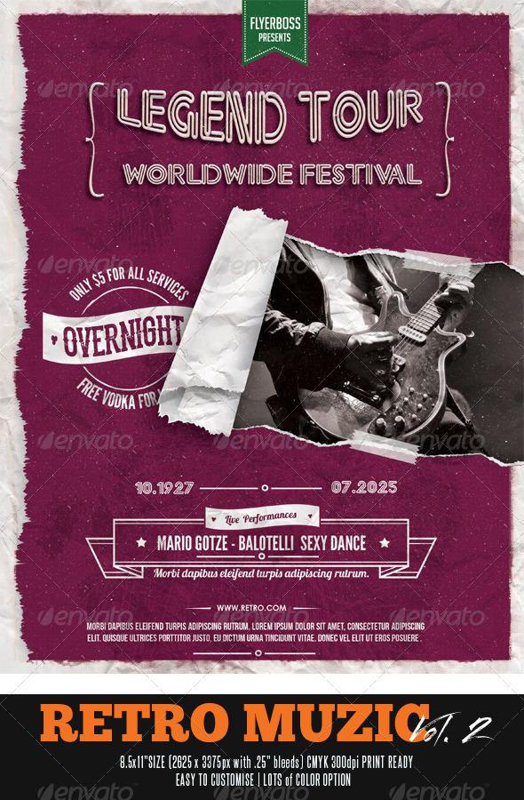 Retro Muzic Flyer/Poster Vol.2 - Events Flyers