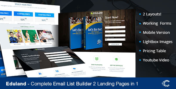 Eduland Education Bundle Unbounce Templates - Unbounce Landing Pages Marketing