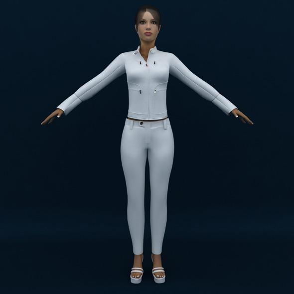 Female 3d Model - 3DOcean Item for Sale