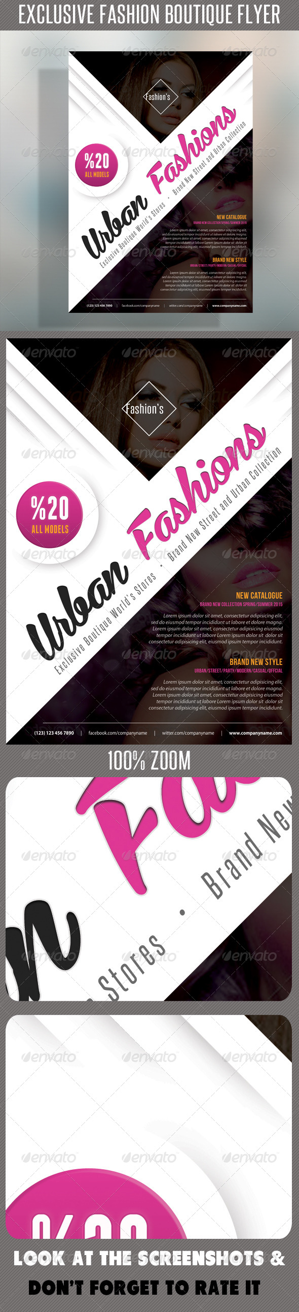 Fashion Product Flyer 52 - Flyers Print Templates