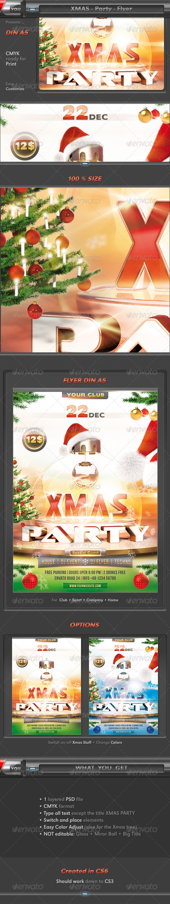 Xmas Party Flyer - Holidays Events