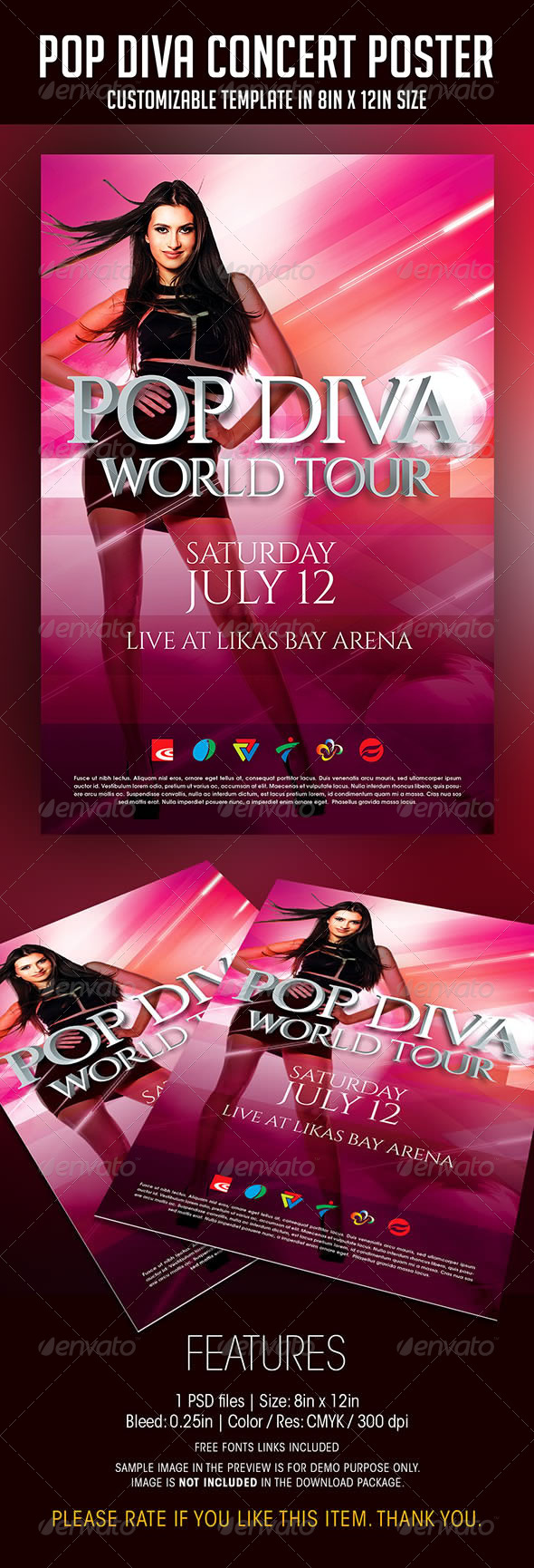 pop diva live concert poster by soulmemoria