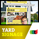 Modern Real Estate Yard Signage 4 + Riders - GraphicRiver Item for Sale