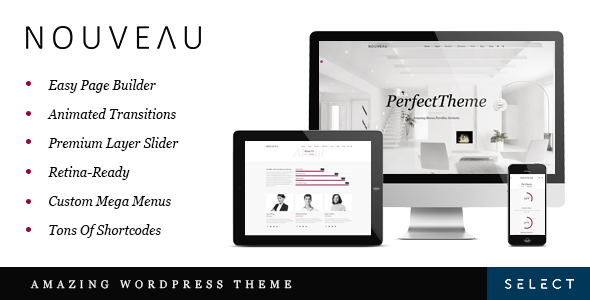 Nouveau - Multi-Purpose Retina WordPress Theme