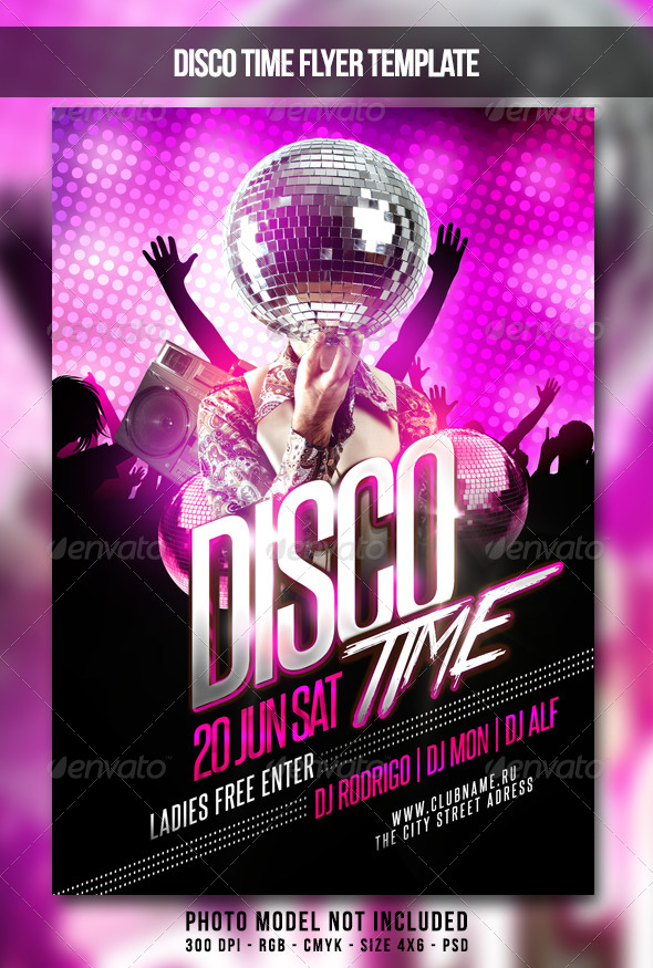 Disco Time Flyer By Maksn | Graphicriver