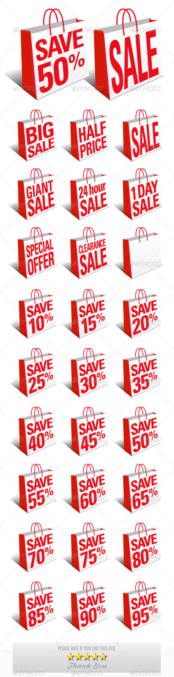 Sale and Save Shopping Bags - Commercial / Shopping Conceptual