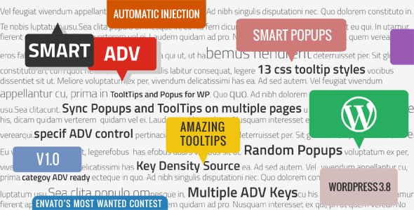 SmartADV - Tooltips, Banners and Popups for WP - CodeCanyon Item for Sale