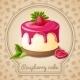 Raspberry Cake Emblem - GraphicRiver Item for Sale