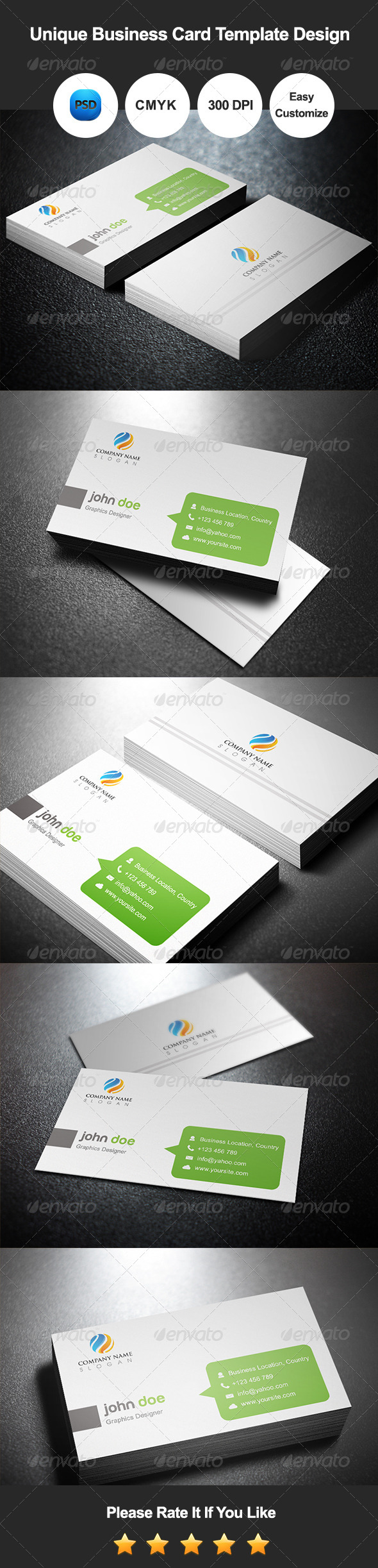 Unique Business Card Template Design - Corporate Business Cards