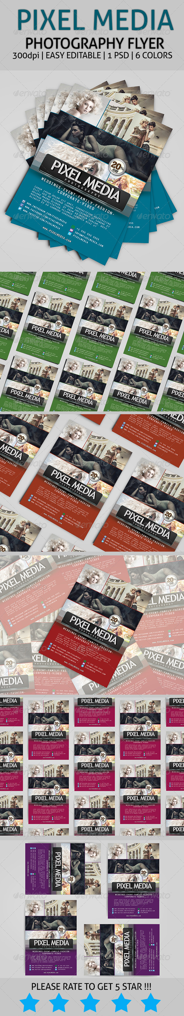 Pixel Media - Photography Flyer