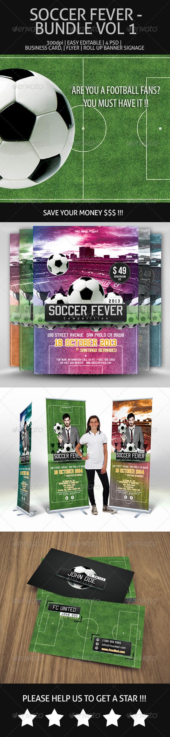 Soccer Fever - Bundle Vol 1 - Miscellaneous Print Templates