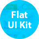 Flat Web UI Kit - GraphicRiver Item for Sale
